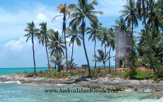 The lighthouse at Fresh Creek,<br>Andros Island Bahamas - Yardley House Rental Bahamas Islands Andros Geography