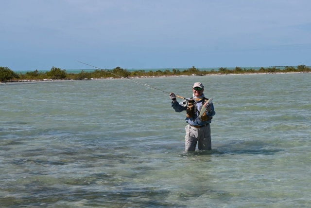 Wading the Flats for Bonefish - Fresh Creek Adventures